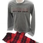 Pánské pyžamo U91X00 JR03O – L591 šedočervená – Guess