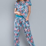 Dámské pyžamo Italian Fashion Opuncja kr.r. dł.sp.