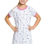 Dívčí noční košile Pepa komiks šedá