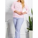 Dlouhé dámské pyžamo TERESA 2008 2XL-3XL