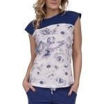 Luxusní dámské bavlněné pyžamo Amalie s květy