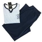 Pánské pyžamo 00-15-7380-202 světle modrá – Vamp