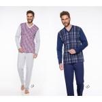 Pánské pyžamo – dlouhé 004 ROMAN 2XL-3XL 2019-2020 J