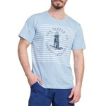 Pánské pyžamo Sea Master modré s majákem