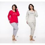 Dlouhé dámské pyžamo 2326 RITA 2XL-3XL 2019/2020 J