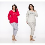 Dlouhé dámské pyžamo 2327 RITA 4XL-6XL 2019/2020 J