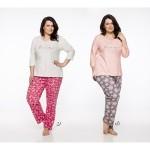 Dlouhé dámské pyžamo 2330 IRMA 2XL-4XL 2019/2020 J