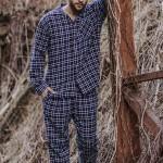 Pánské pyžamo MNS 046 B19 3XL-4XL
