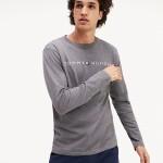 Pánské pyžamové tričko UM0UM01171-091 šedá – Tommy Hilfiger