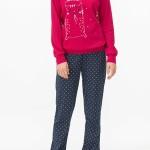 Dámské pyžamo 11426-144 modrorůžová – Vamp