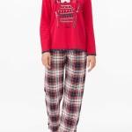 Dámské pyžamo 11445-149 červená – Vamp