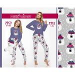 Dámské pyžamo 2355 (Medvídci/Trpaslíci) ZIMA S-XL