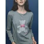 Dámské pyžamo FA6835PB šedá – Noidinotte
