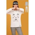 Dámské pyžamo FA6869PB bíločerná – Noidinotte