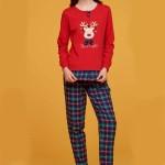 Dámské pyžamo FA6878PB červená – Noidinotte