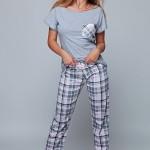Dámské pyžamo Luisa šedá – Sensis