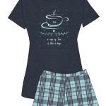 Dámské pyžamo Muzzy 9316-214 Tea kr/r S-XL