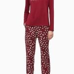 Dámské pyžamo QS6154E-ABQ červená – Calvin Klein