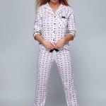 Dámské pyžamo Vogue bílorůžová – Sensis