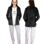 Dámský pyžamový komplet FA6956PB černošedobílá – Noidinotte