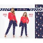 Dlouhé dívčí pyžamo 2353 (Medvídci/trpaslíci) 104-140