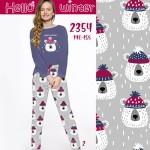 Dlouhé dívčí pyžamo 2354 (Medvídci/trpaslíci) 146-158