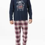 Pánské pyžamo 11447-180 modročervená – Vamp