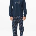 Pánské pyžamo 11664-396 modrá – Vamp