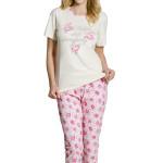 Dámské bavlněné pyžamo Rosie s růžičkami