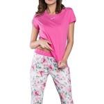 Dámské capri pyžamo Nasťa růžové