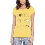 Dámské krátké pyžamo Toffi žluté