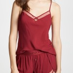 Dámské pyžamo QS6119E-2XV červená – Calvin Klein