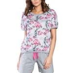 Dámské pyžamo Rose s růžovými růžičkami