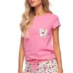 Dámské pyžamo Rozi růžové se srdíčky