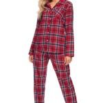 Flanelové pyžamo Olivie červené