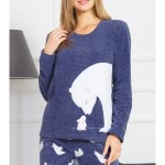 Dámské pyžamo dlouhé Méďa a králík