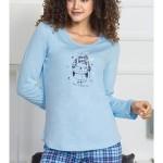 Dámské pyžamo dlouhé Tučňák s čepičkou