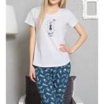 Dámské pyžamo kapri Méďa a hvězdy