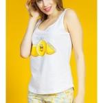Dámské pyžamo šortky na ramínka Citrony