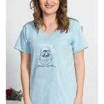 Dámské pyžamo šortky Sova s čepicí