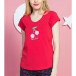 Dámské pyžamo šortky Třešně