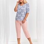 Dámské pyžamo Taro 2373 Lidia kr/r 4XL-5XL 'L20