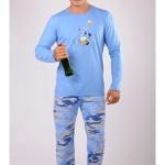 Pánské pyžamo dlouhé Pes s pivem – Gazzaz