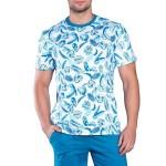 Pánské pyžamo Romano tyrkysovobílá – Gemini