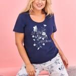 Krátké dámské pyžamo 2379 AGNIESZKA 2XL-3XL