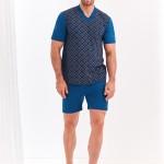 Krátké pánské pyžamo 001 ROMAN 2XL-3XL