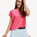 Dámské pyžamo UW0UW02363-0VM růžovomodrá – Tommy Hilfiger