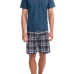 Pánské pyžamo 12601-183 modrošedá – Vamp