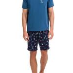 Pánské pyžamo 12692-284 modrá – Vamp