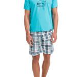 Pánské pyžamo 12722-282 modrobílá – Vamp